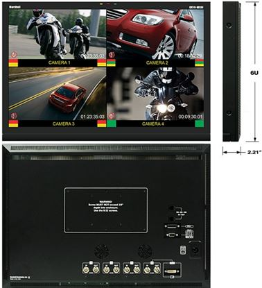 """Picture of QV241-HDSDI 24"""" Widescreen Native HD Resolution LCD Monitor with built in Quad Splitter"""